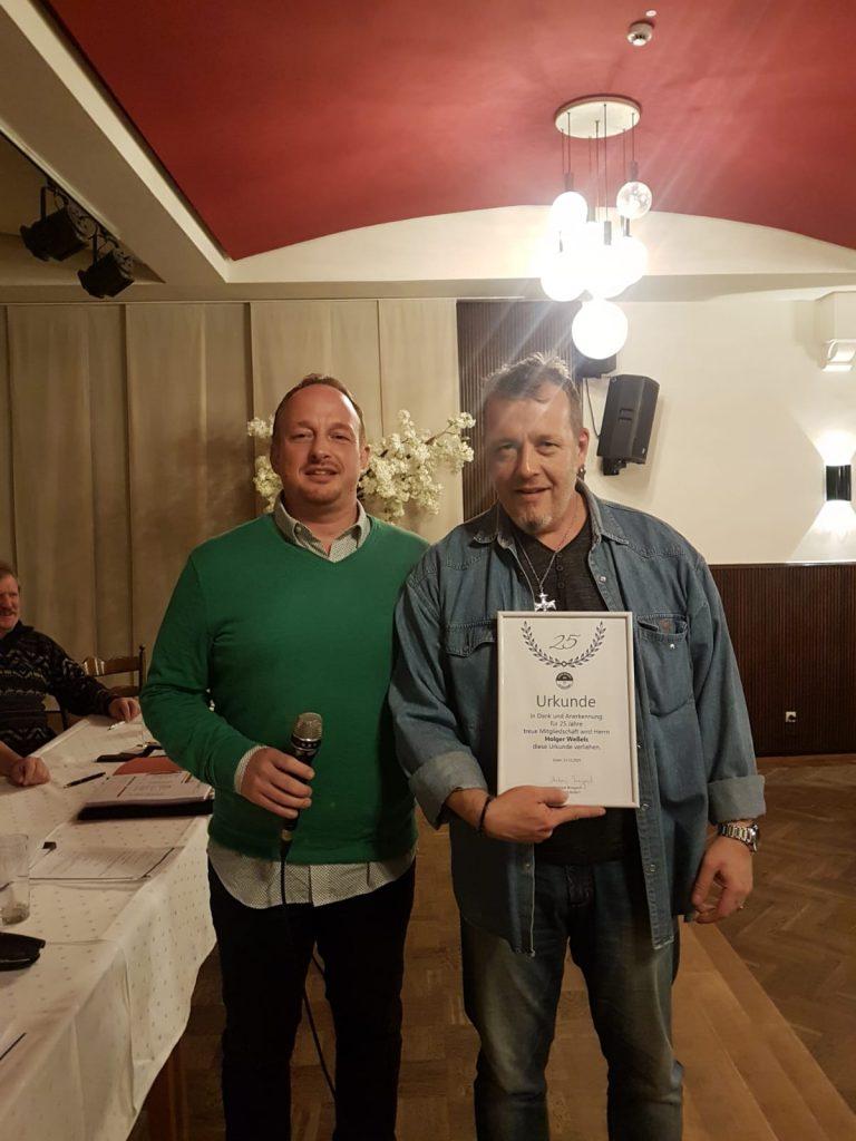 Holger Weßels - 25 Jahre Mitglied